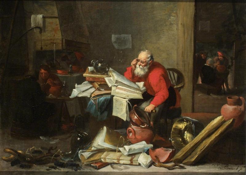 Alchemist by Mattheus_van_Hellemont