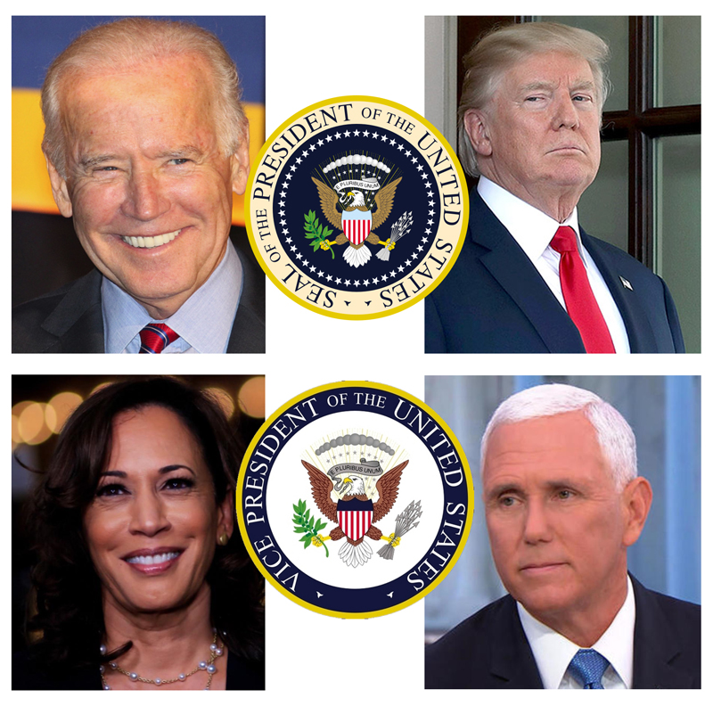 Biden-Harris-Trump-Pence-Seals