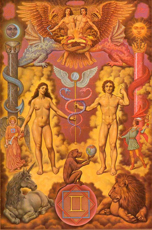 Gemini---Johfra_Bosschart-Zodiac-Paintings2
